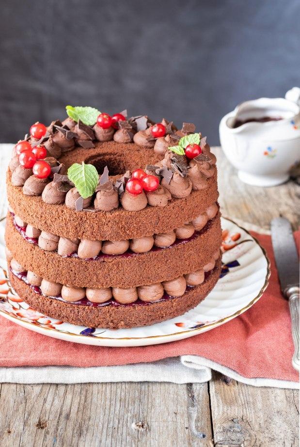 CHIFFON CAKE AL CAFFÈ E CACAO CON GANACHE AL CIOCCOLATO