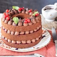 CHIFFON CAKE AL CACAO E CAFFÈ CON GANACHE AL CIOCCOLATO